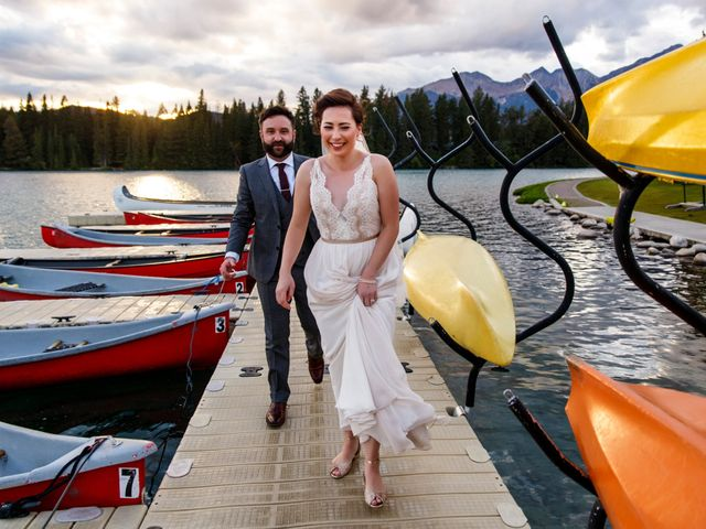 Braden and Jade's wedding in Jasper, Alberta 41