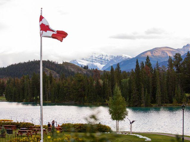 Braden and Jade's wedding in Jasper, Alberta 43