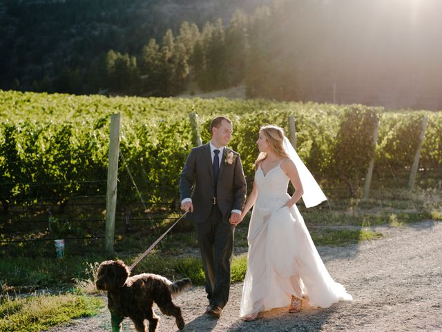 Andrew and Lindsay's wedding in Okanagan Falls, British Columbia 2