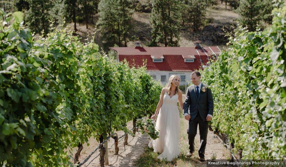 Andrew and Lindsay's wedding in Okanagan Falls, British Columbia