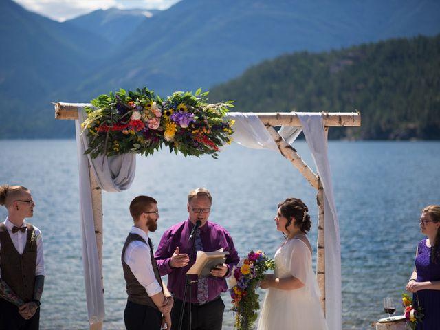 Alex  and Katelyn 's wedding in Gray Creek, British Columbia 5