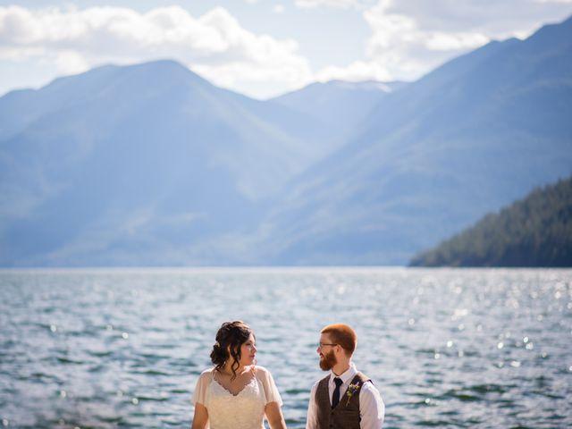 Alex  and Katelyn 's wedding in Gray Creek, British Columbia 2