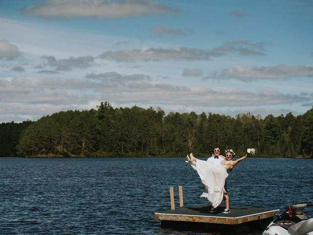 Sammy  and Christine 's wedding in Maynooth, Ontario 12