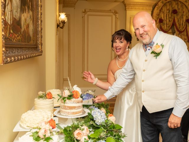 The wedding of Christie and Richard