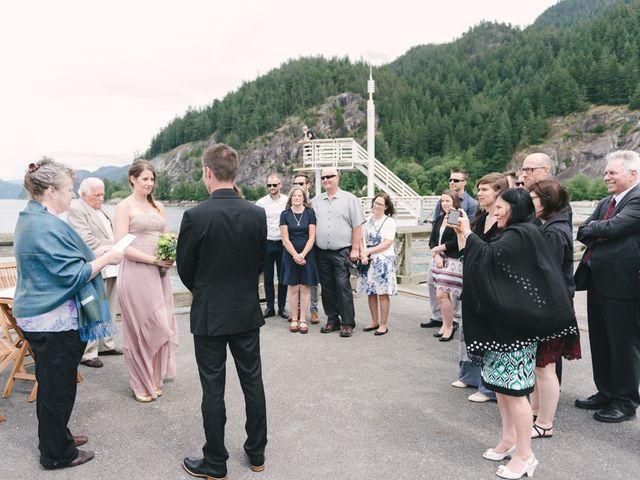 Craig and Tessa's wedding in Squamish, British Columbia 8