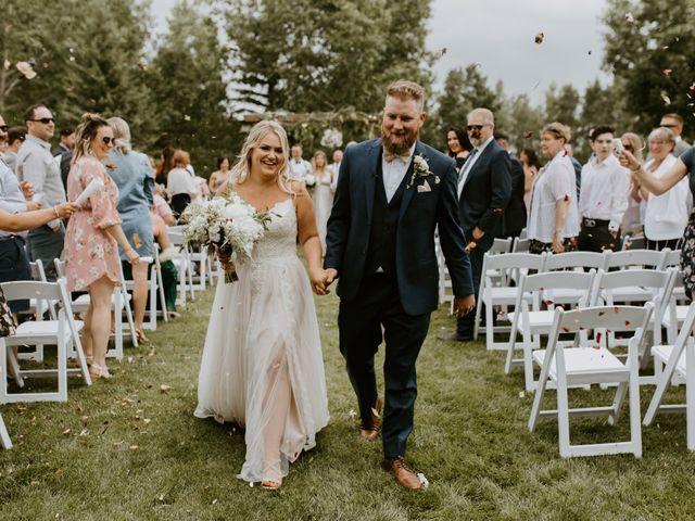 Scott and Tyneille's wedding in Sylvan Lake, Alberta 1