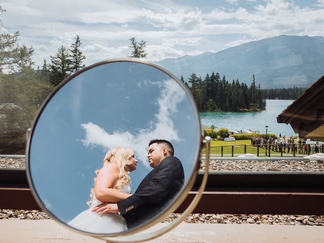 Dustin and Shannon's wedding in Jasper, Alberta 14