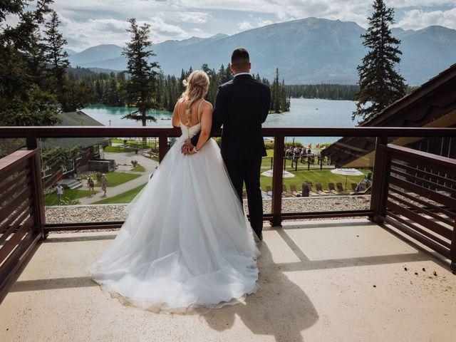 Dustin and Shannon's wedding in Jasper, Alberta 15