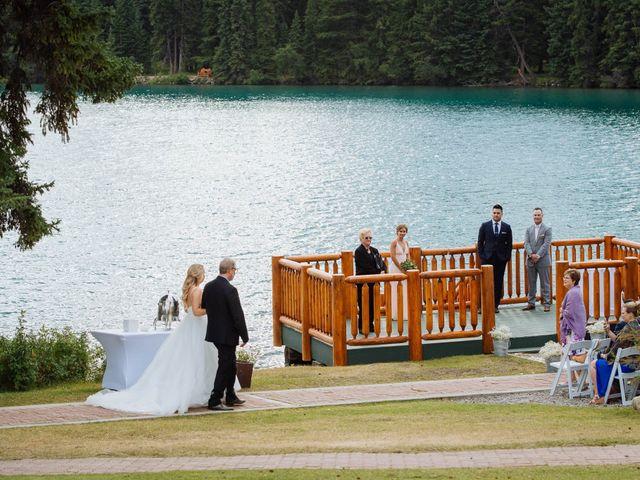 Dustin and Shannon's wedding in Jasper, Alberta 36