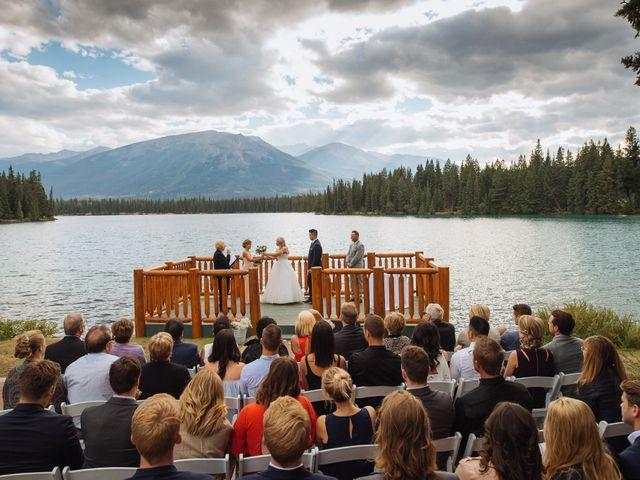 Dustin and Shannon's wedding in Jasper, Alberta 42