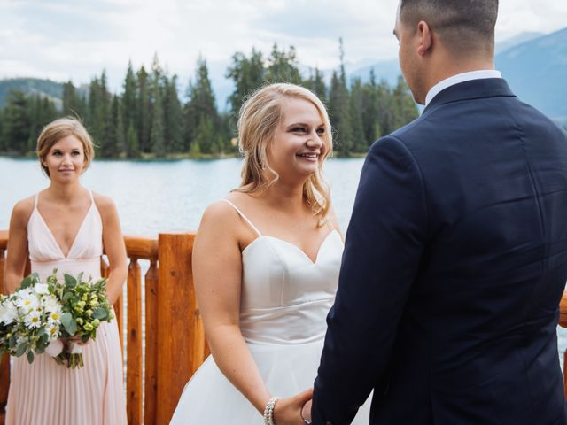 Dustin and Shannon's wedding in Jasper, Alberta 43