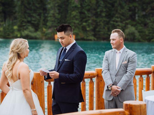 Dustin and Shannon's wedding in Jasper, Alberta 45