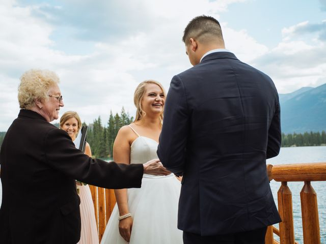 Dustin and Shannon's wedding in Jasper, Alberta 47
