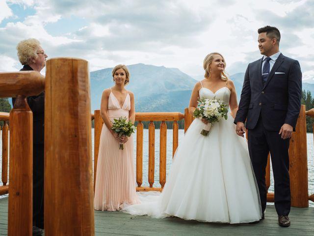 Dustin and Shannon's wedding in Jasper, Alberta 51