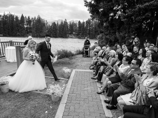 Dustin and Shannon's wedding in Jasper, Alberta 52