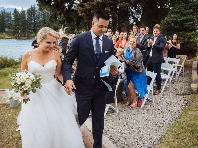 Dustin and Shannon's wedding in Jasper, Alberta 53