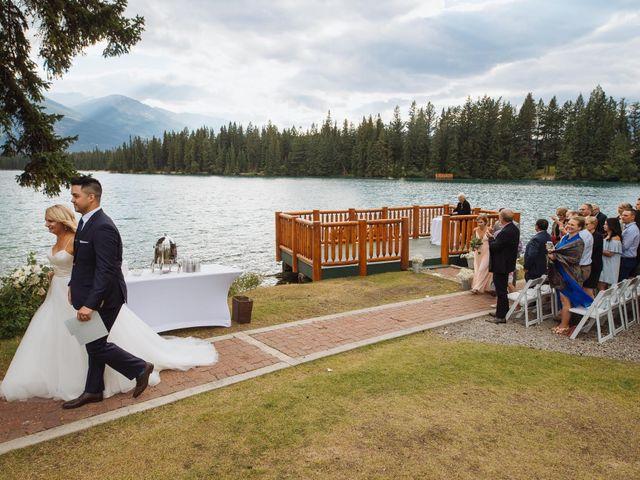 Dustin and Shannon's wedding in Jasper, Alberta 55