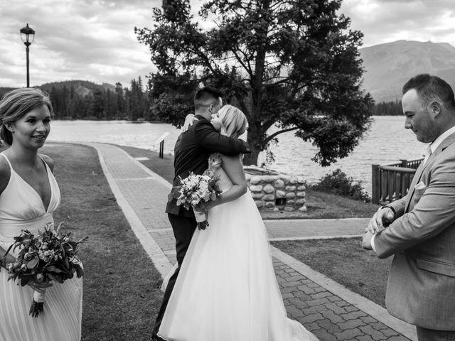 Dustin and Shannon's wedding in Jasper, Alberta 58
