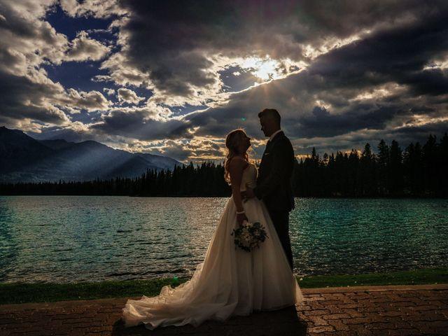 Dustin and Shannon's wedding in Jasper, Alberta 62