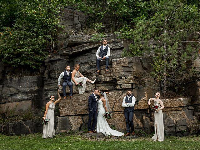 Jake and Jasmine's wedding in Huntsville, Ontario 12