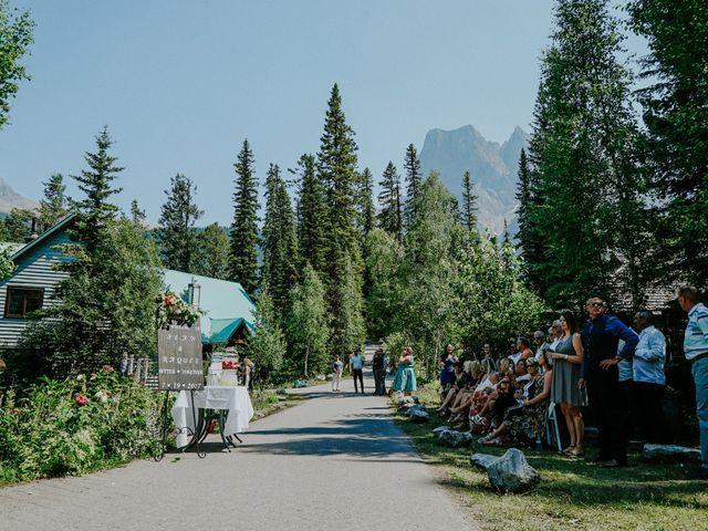 Sean and Raquel's wedding in Field, British Columbia 10