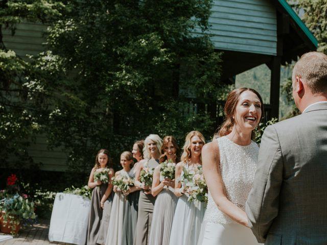 Sean and Raquel's wedding in Field, British Columbia 14
