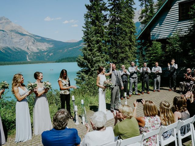 Sean and Raquel's wedding in Field, British Columbia 15