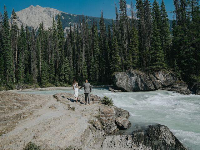 Sean and Raquel's wedding in Field, British Columbia 21
