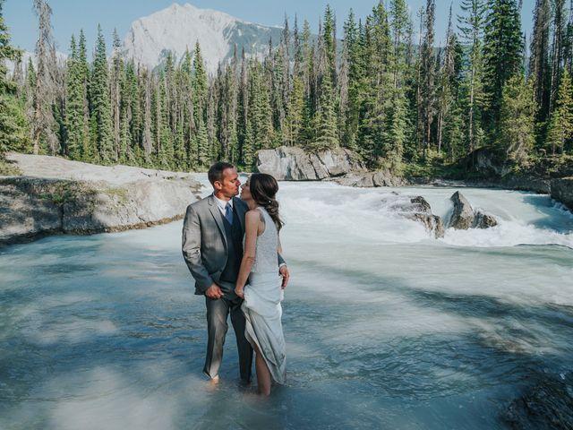 Sean and Raquel's wedding in Field, British Columbia 24