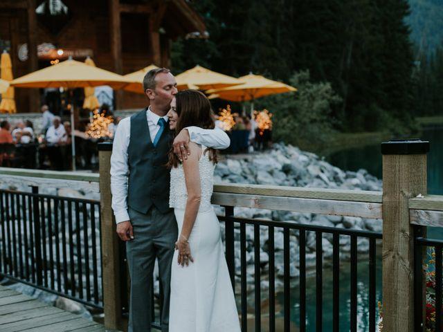 Sean and Raquel's wedding in Field, British Columbia 50