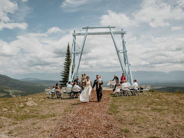 Tyson and Lindsey's wedding in Kimberley, British Columbia 1