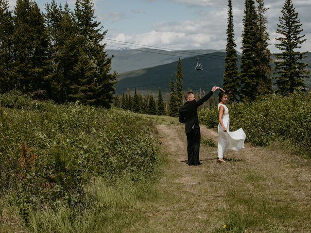 Tyson and Lindsey's wedding in Kimberley, British Columbia 2