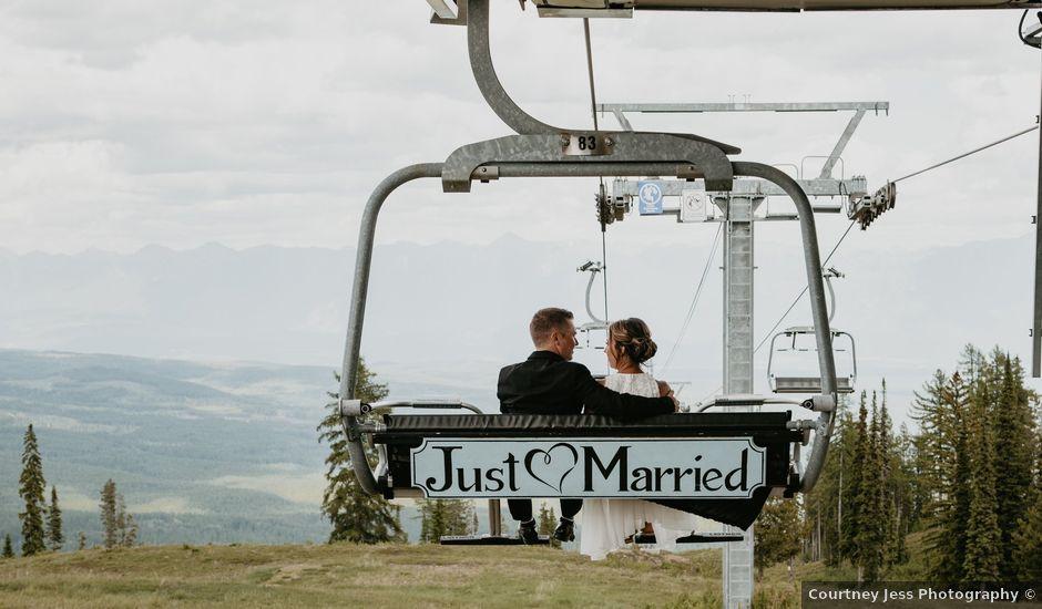 Tyson and Lindsey's wedding in Kimberley, British Columbia