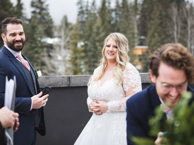 Shawn and Kaley's wedding in Canmore, Alberta 18