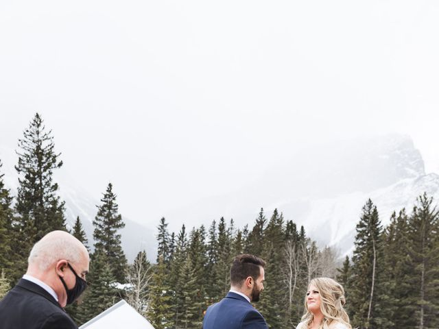 Shawn and Kaley's wedding in Canmore, Alberta 30