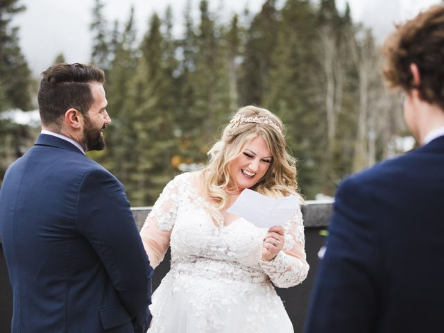 Shawn and Kaley's wedding in Canmore, Alberta 45