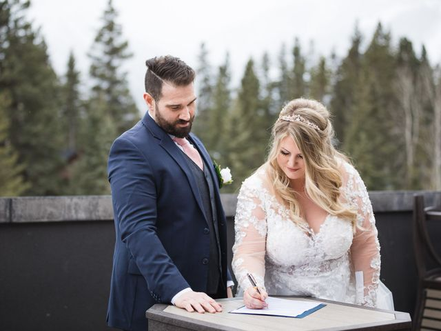 Shawn and Kaley's wedding in Canmore, Alberta 56
