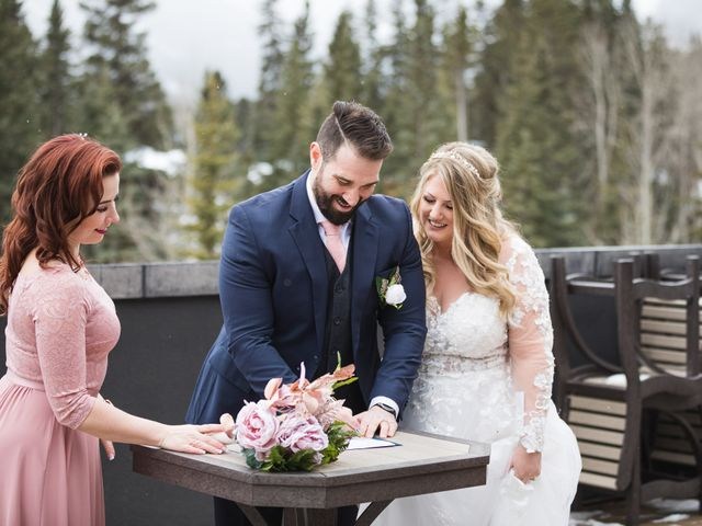 Shawn and Kaley's wedding in Canmore, Alberta 60