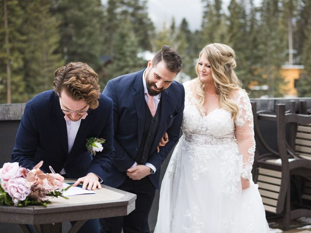 Shawn and Kaley's wedding in Canmore, Alberta 61