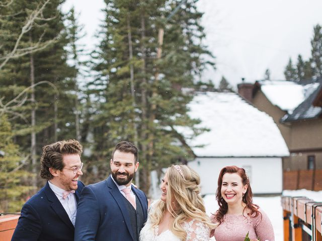 Shawn and Kaley's wedding in Canmore, Alberta 200