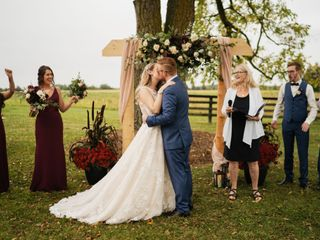 The wedding of Virginia and Matt