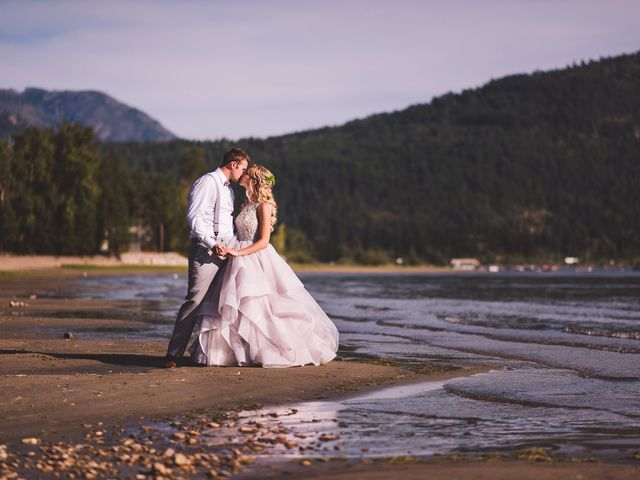 Alex and Nelle's wedding in Chase, British Columbia 1