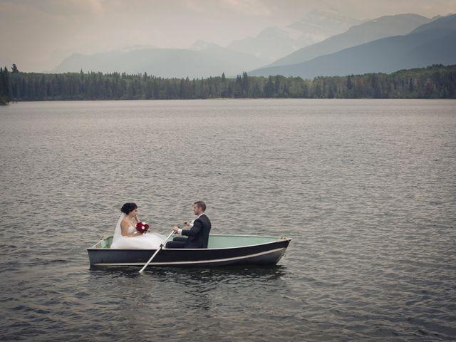 David and Jessica's wedding in Jasper, Alberta 1