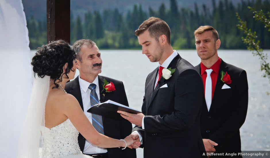 David and Jessica's wedding in Jasper, Alberta