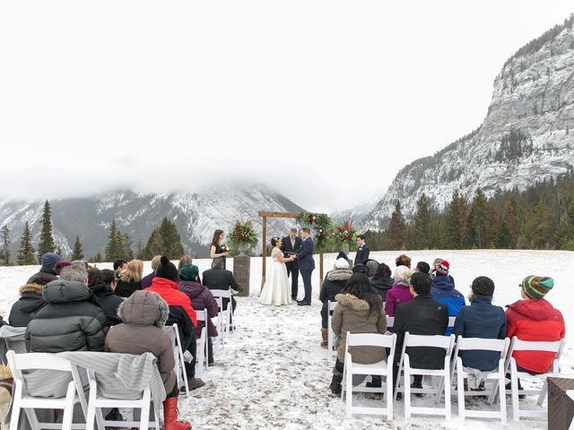 Greg and Sari's wedding in Banff, Alberta 11