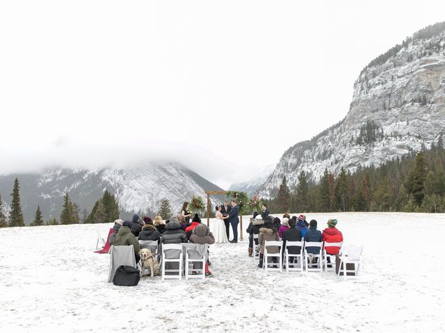Greg and Sari's wedding in Banff, Alberta 14