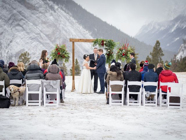 Greg and Sari's wedding in Banff, Alberta 1