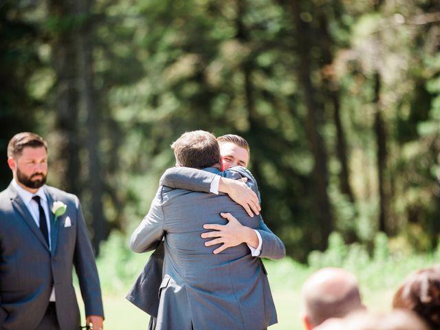 Clay and Cassie's wedding in Kananaskis, Alberta 24