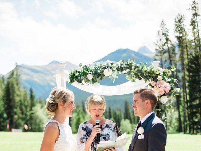 Clay and Cassie's wedding in Kananaskis, Alberta 29