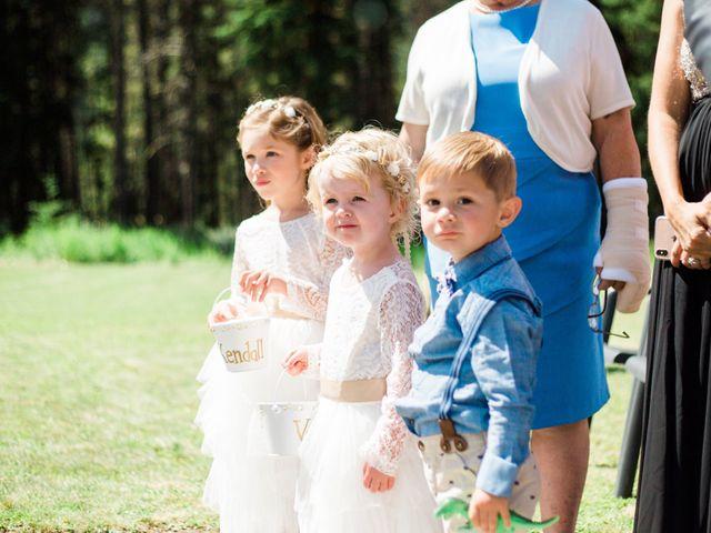Clay and Cassie's wedding in Kananaskis, Alberta 30
